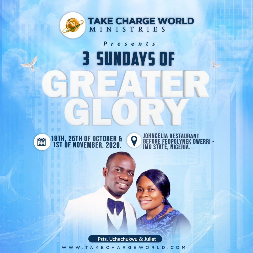 TAKE CHARGE WORLD MINISTRIES